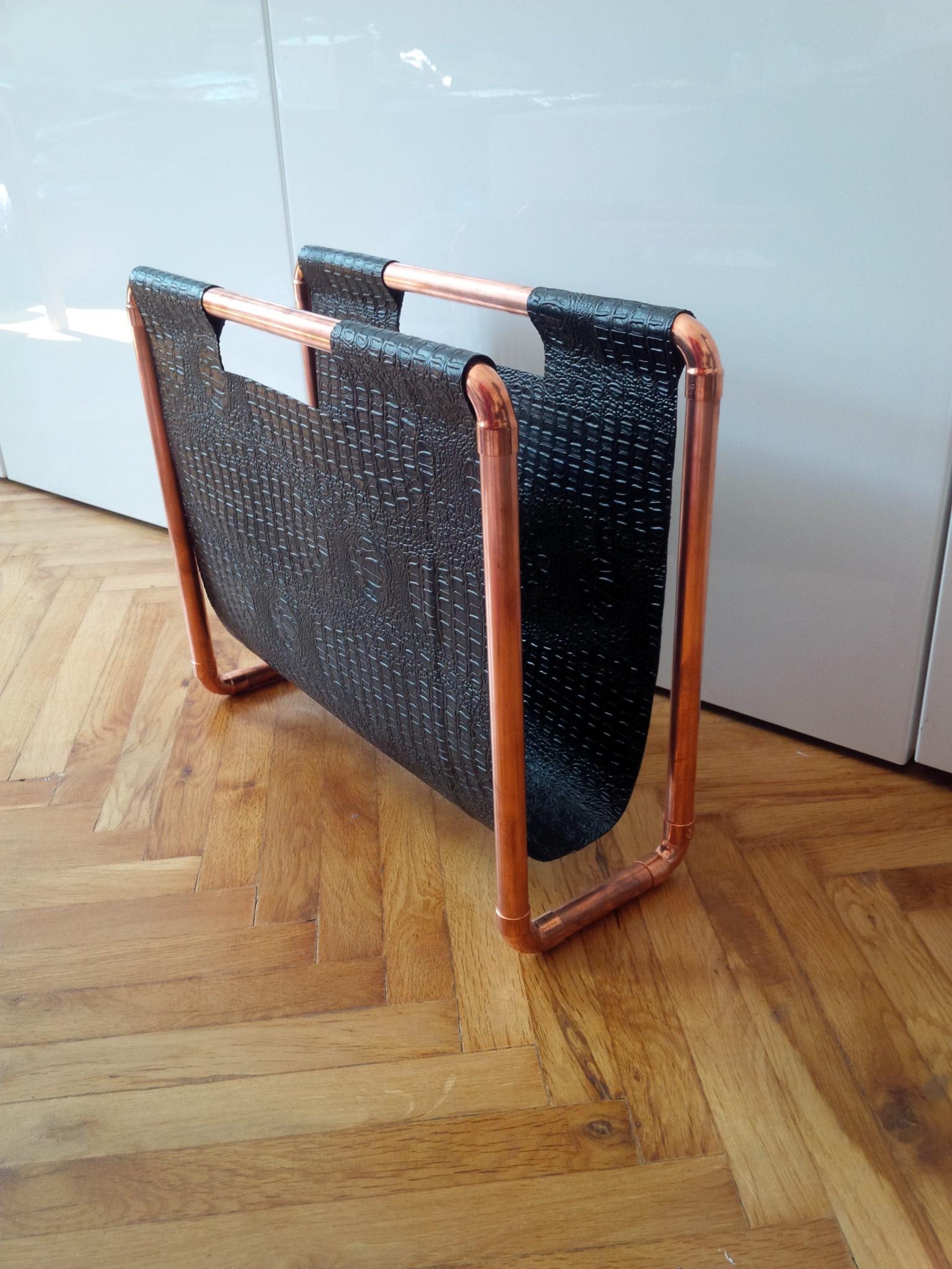 kupfer zeitschriftenst nder do iteria. Black Bedroom Furniture Sets. Home Design Ideas