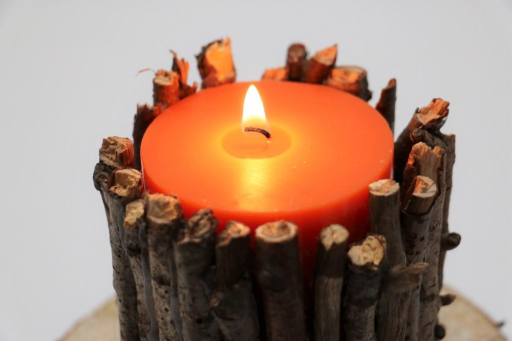 Kerze Äste 2