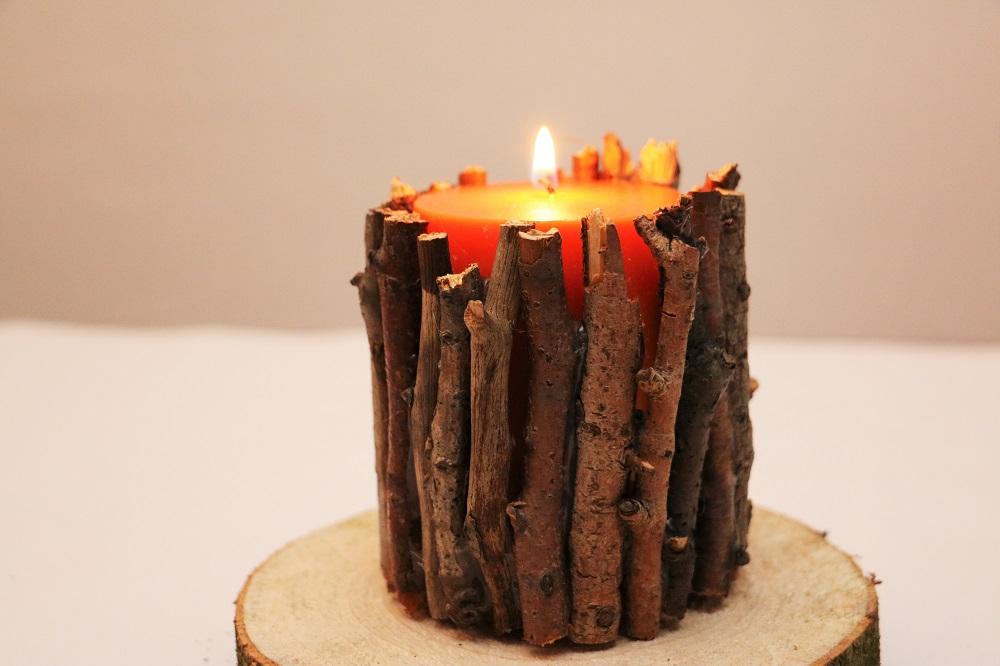 Kerze Äste 3
