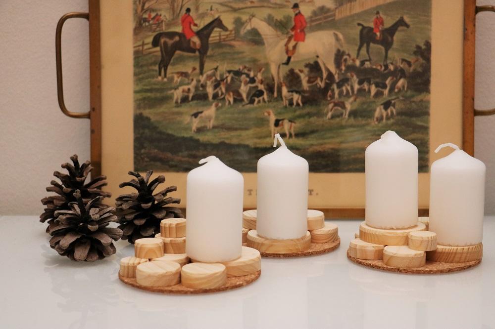 Kerzen Holzscheiben 1.1