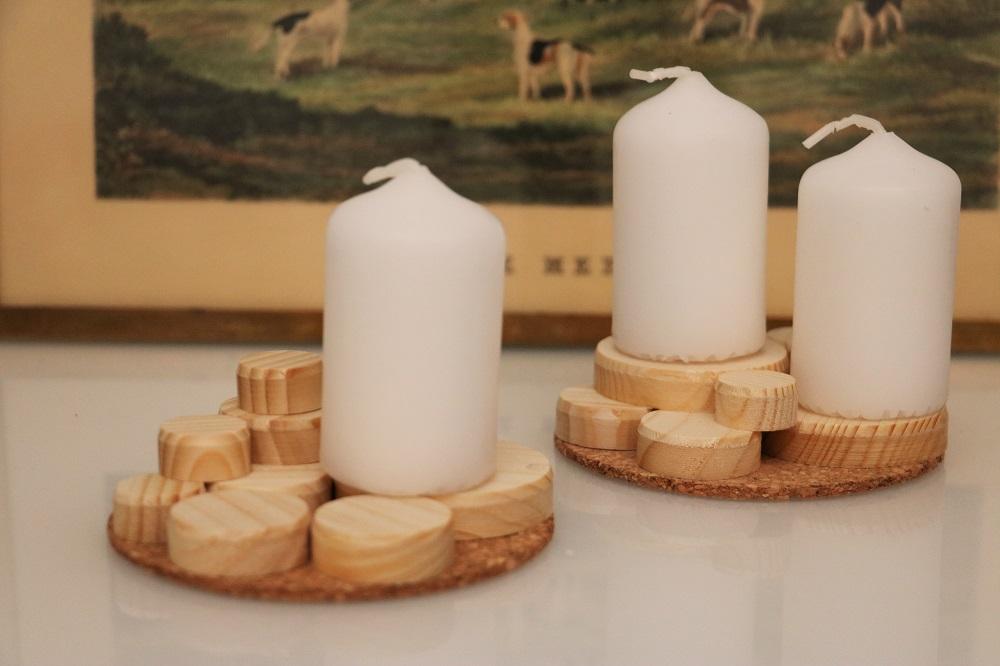 Kerzen Holzscheiben 1.2