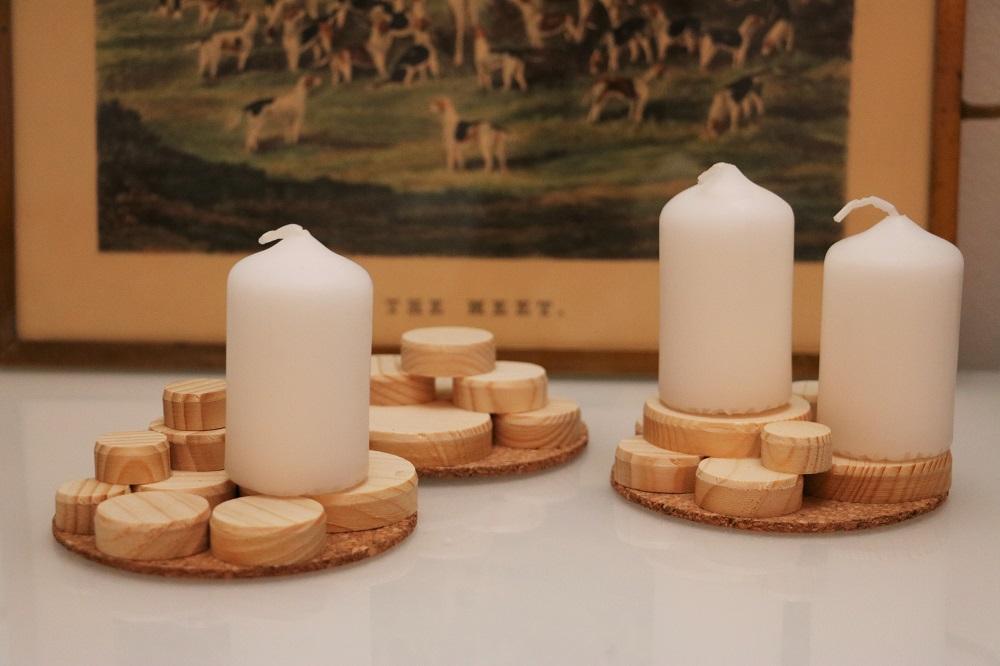 Kerzen Holzscheiben 1.4