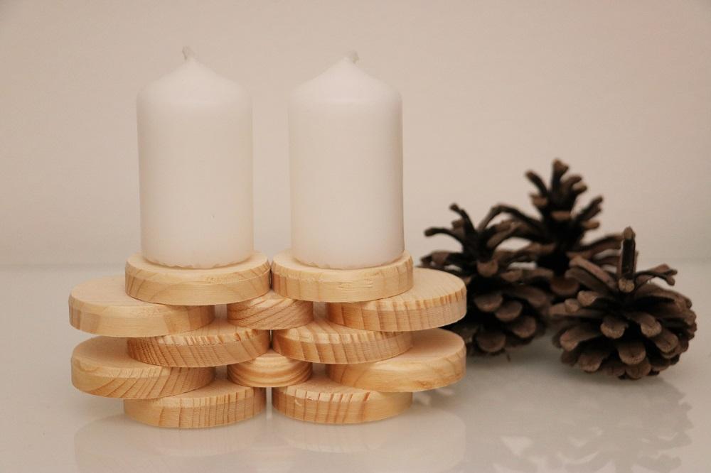 Kerzen Holzscheiben 2.1