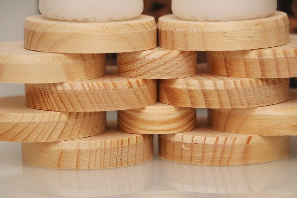 Kerzen Holzscheiben 2.4