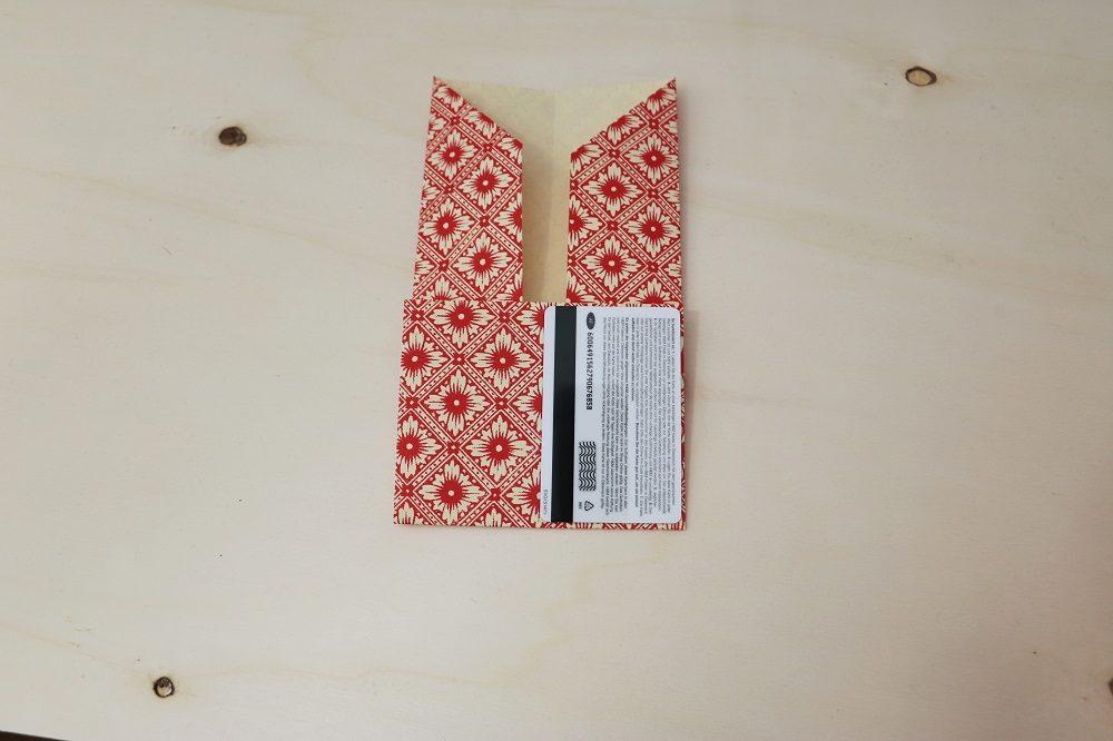Origami Papierhülle 8