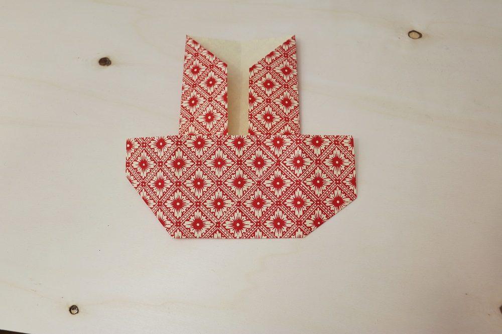 Origami Papierhülle 9