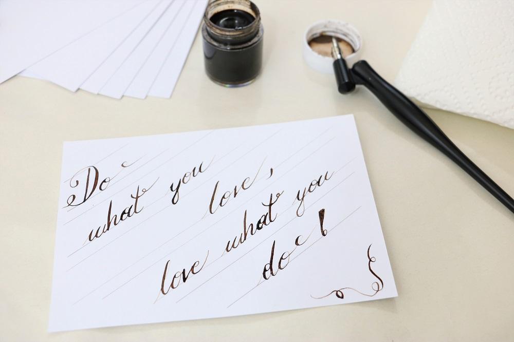 ich lerne Kalligraphie - Anleitung
