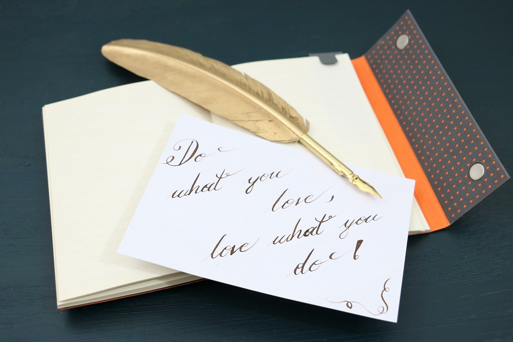 Kalligraphie DIY quote card
