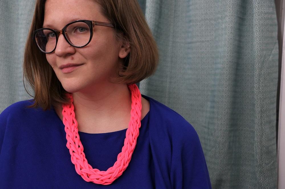 gestrickte Halskette