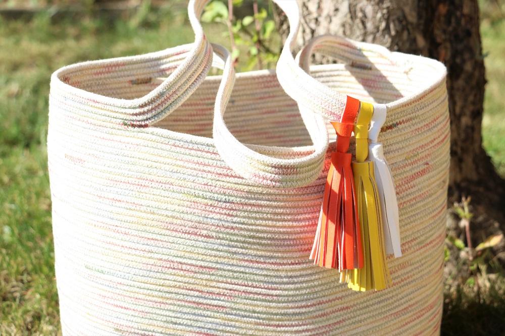 Sommertasche aus Seilen zusammengenäht - Rope Tote Bag