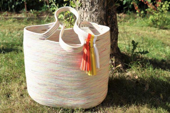 Sommertasche aus Seilen
