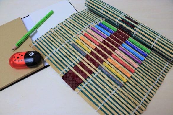 Bambusmatte Stifte Aufbewahrung