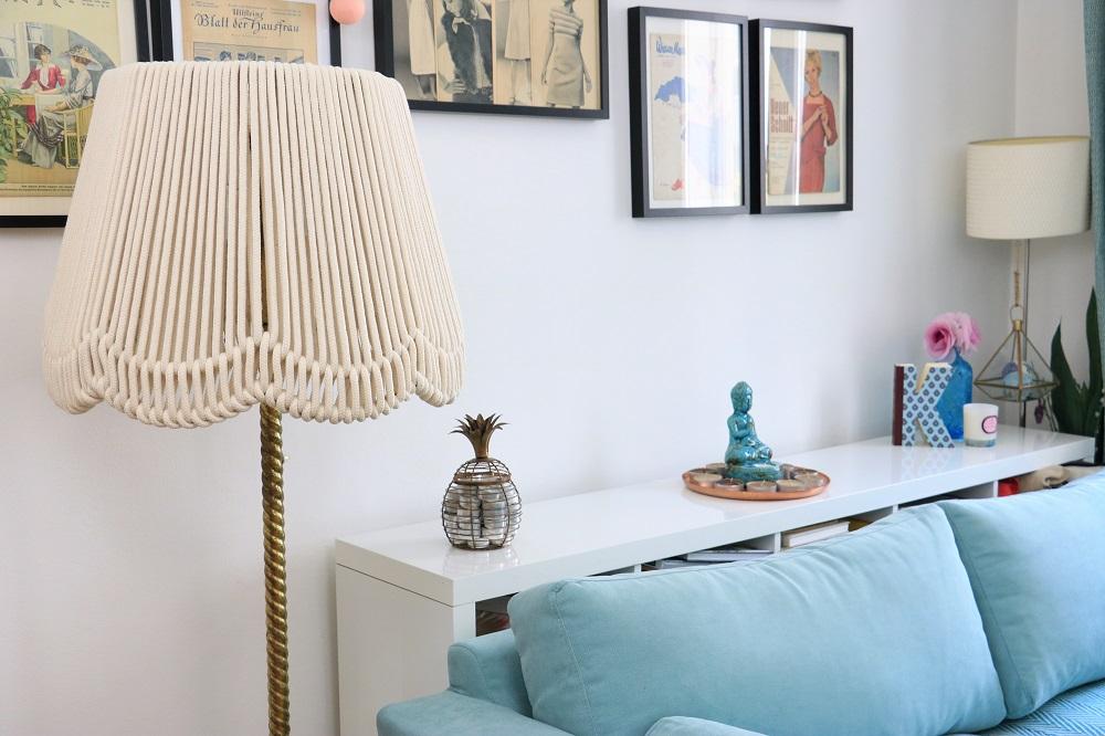 stehlampe mit seil lampenschirm eine fast diy never ending story do iteria. Black Bedroom Furniture Sets. Home Design Ideas