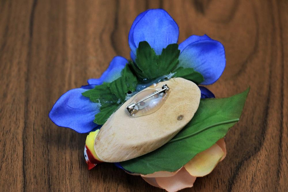Vogel-Blumenanstecker