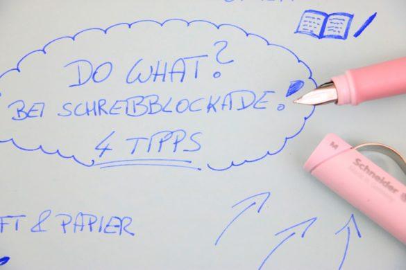 Schreibblockade überwinden Schneider Schreibgeräte