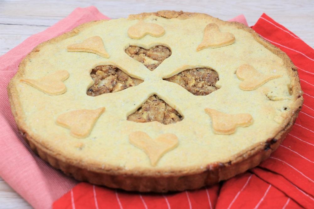 Apfel-Birnen-Nuss Pie