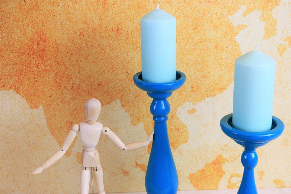 Kerzenständer upcycling Ikea Hack
