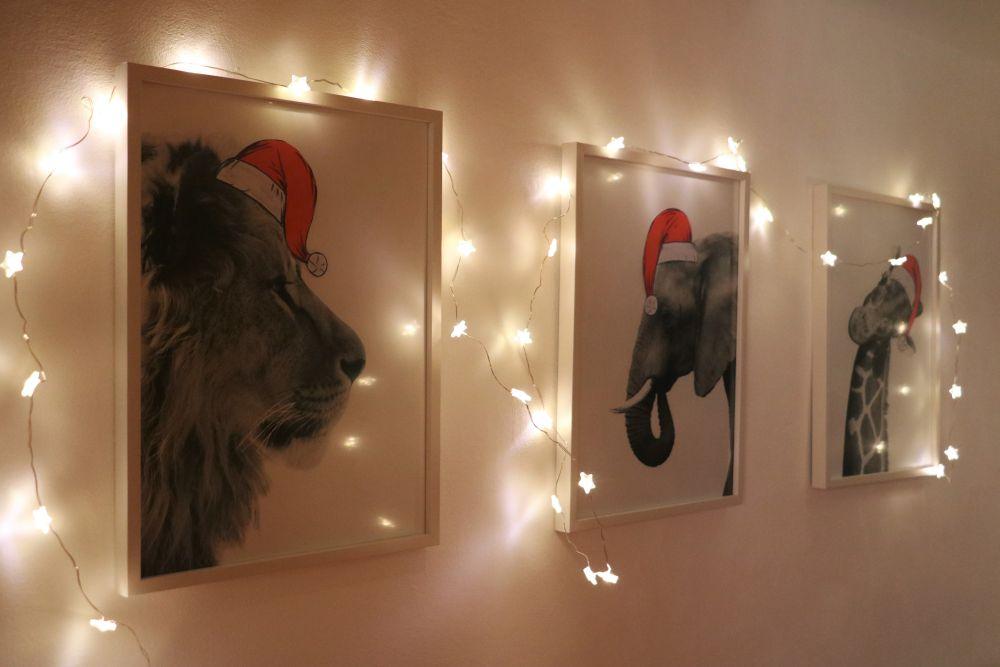Weihnachtsmütze für deine Tierposter